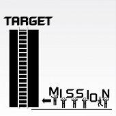 Business Mission and Achievement Concept