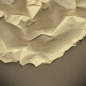 eps10 vector crumpled torn paper business background