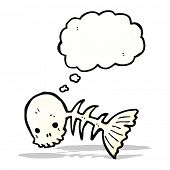 spooky fish bones cartoon
