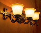 picture of lamp shade  - The close view of a lobby lamp shade  - JPG