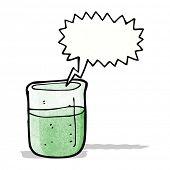 cartoon chemical beaker