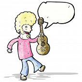 cartoon sixties guitar player