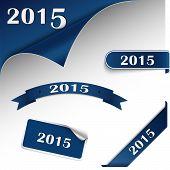 New Year Blue Card Web Element