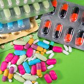 Se Up Of Many Colorful Pills (medicines)