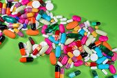 foto of viagra  - Close up of many colorful pills  - JPG