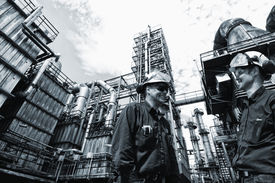 picture of refinery  - oil and gas engineers inside chemical oil refinery - JPG