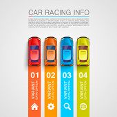 image of long winding road  - Car racing info art cover - JPG
