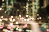 Bueautiful Night Bokeh At Hongkong