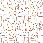 Seamless Shoe Pattern
