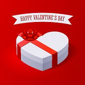 Valentine's Day Gift Box. Concept illustration with gift box and heart symbol sutiable for advertisi