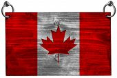 Canadian Flag With Clipping Path