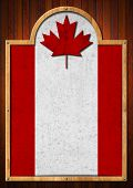 Signboard With Canadian Flag
