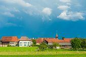 Beautiful swiss village