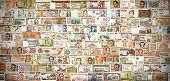 Retro Filtered Banknotes From All Over The World.