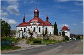 image of bohemia  - Old repaired church in a small village in Bohemia - JPG