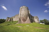 image of chepstow  - chepstow castle monmouthside wales starting point of the long distance footpaths the offas dyke path and the river wye valley walk - JPG