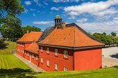 stock photo of copenhagen  - Barracks in Kastellet fortress - Copenhagen, Denmark ** Note: Soft Focus at 100%, best at smaller sizes - JPG