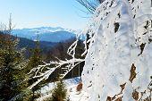 The View From A Slope Of Bukovel Ski Resort, Ukraine