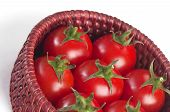 Cherry Tomatoes In The Small Basket Fragment
