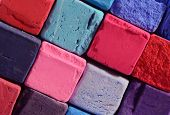 Closeup Of Bright Pastel Chalks With Red,blue,violet And Purple Colours ,background For Creative Art