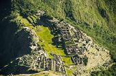 Machu Picchufrom above view in early morning