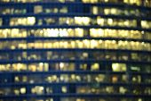Blurred image of the office buildings.