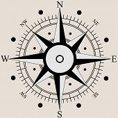 foto of wind-rose  - Wind rose compass flat symbols - JPG