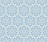 Beautiful Blue Hexagonal Pattern
