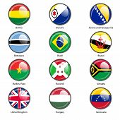 Set circle icon  Flags of world