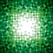 Abstract green triangle mosaic background design element. Vector