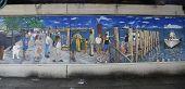 Mural art in Sheepshead Bay section of Brooklyn