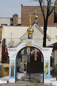 Russian Orthodox Church with traditional golden dome