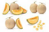 Japanese yellow melon fruit