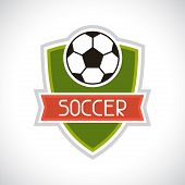Sports illustration soccer football badge.
