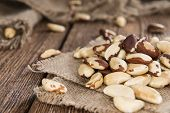picture of brazil nut  - Portion of healthy Brazil Nuts as detailed close-up shot) ** Note: Shallow depth of field - JPG