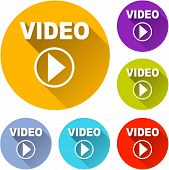 Play Video Icons