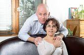 Senior Couple On A Sofa