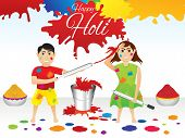 Abstract Artistic Holi Splash Background