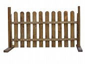 Wooden Fence At Ranch Isolated On White Background