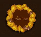 Autumn Circle Of Oak Leaves