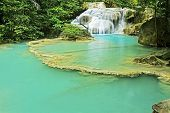 Erawan Waterfall With Emerald