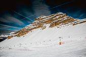picture of italian alps  - Ski Slope near Madonna di Campiglio Ski Resort, Italian Alps