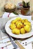 Fried Potatoes And Sauerkraut