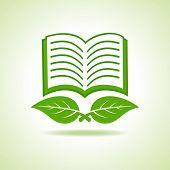 Vector illustration of eco book icon