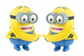 Two Minion With Banana Toy Character From Despicable Me 2 Movie.