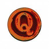 Grunge Font - Letter Q