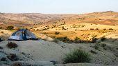 Tent In The Desert.