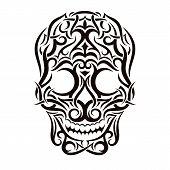 Tattoo tribal skull. Vector design element.