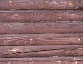 Wall Of A Wooden House, A Fragment
