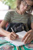 Mature Lady Hand Writing